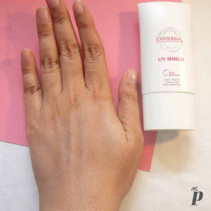 6-Loveisderma_UV Shield_Sunscreen_SPF50_Review _ brightening pigment