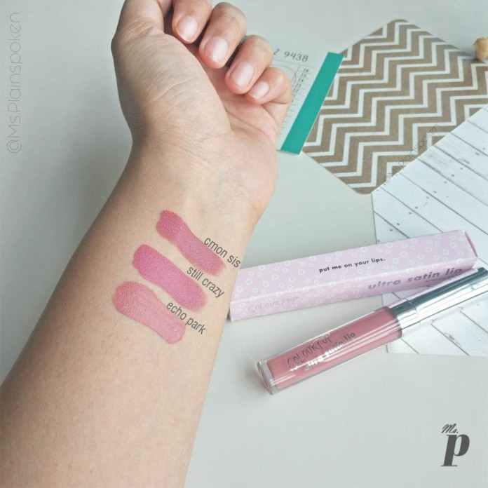 Colourpop Ultra Satin Lip Echo Park Review and Swatch on dark skin India