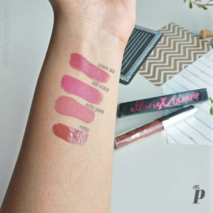 Ellarie X Colourpop ultra glossy lip Netta Swatches on dark skin and Review India(1)