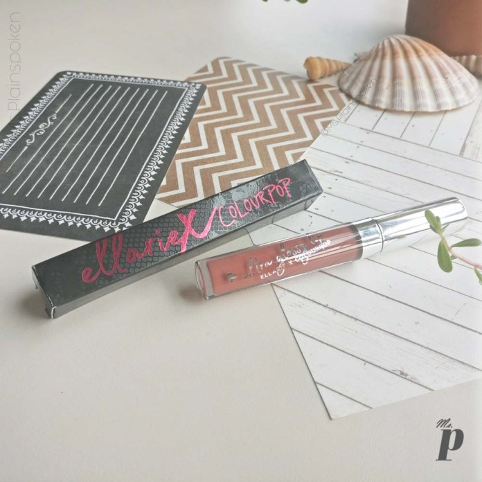 Ellarie X Colourpop ultra glossy lip Netta Swatches Review (2)