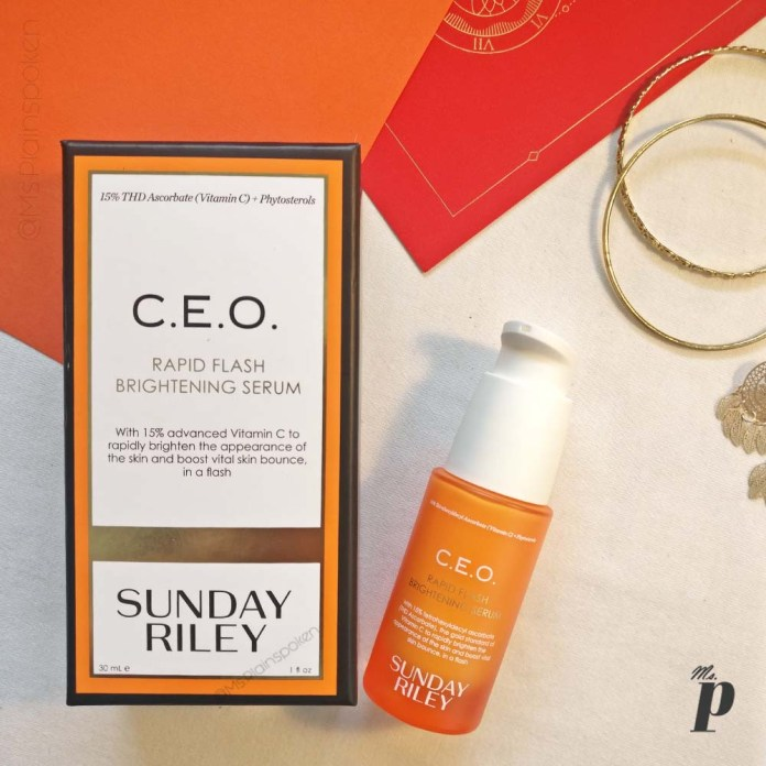 Sunday Riley CEO Vitamin C Rapid Flash Brightening Serum Review India
