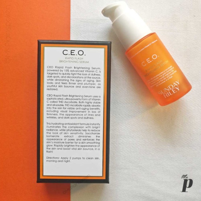 Sunday Riley CEO Vitamin C Rapid Flash Brightening Serum Review _ claims and Directions