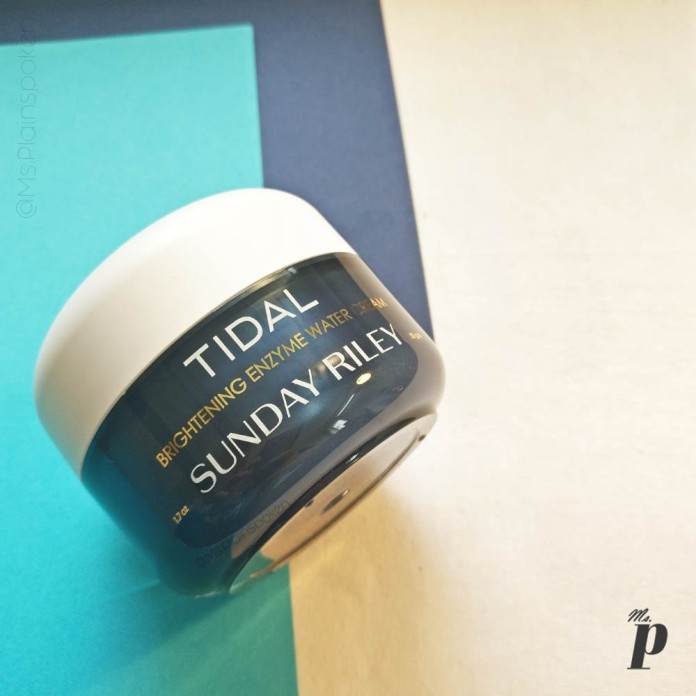 Sunday Riley Tidal Brightening Enzyme Water Cream Review India_ tub packaging (5)