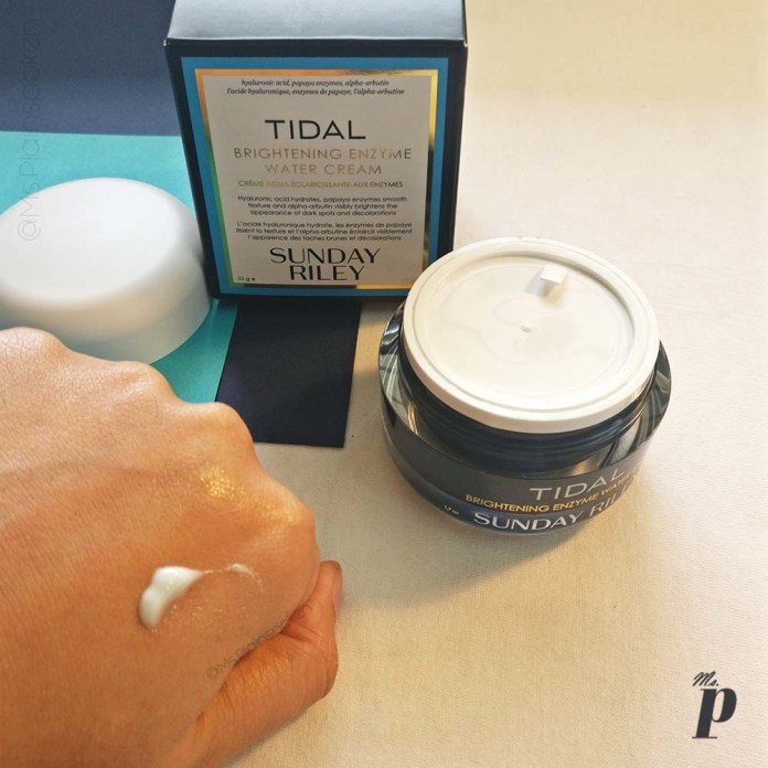 Sunday Riley: Tidal- Brightening Enzyme Water Cream | Skin Before & After