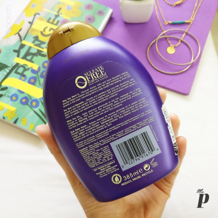 OGX: Biotin and Collagen Shampoo | Claims