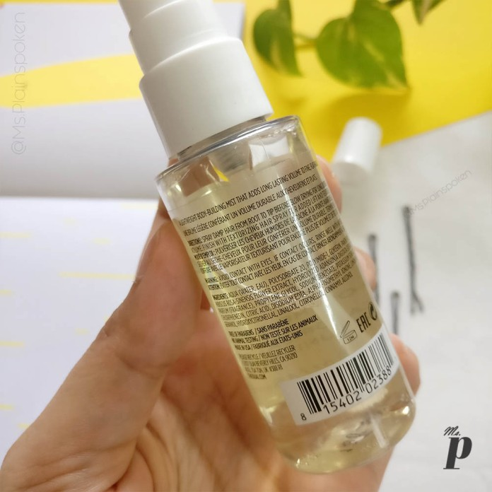 Ouai Haircare volume spray review _ ingredients