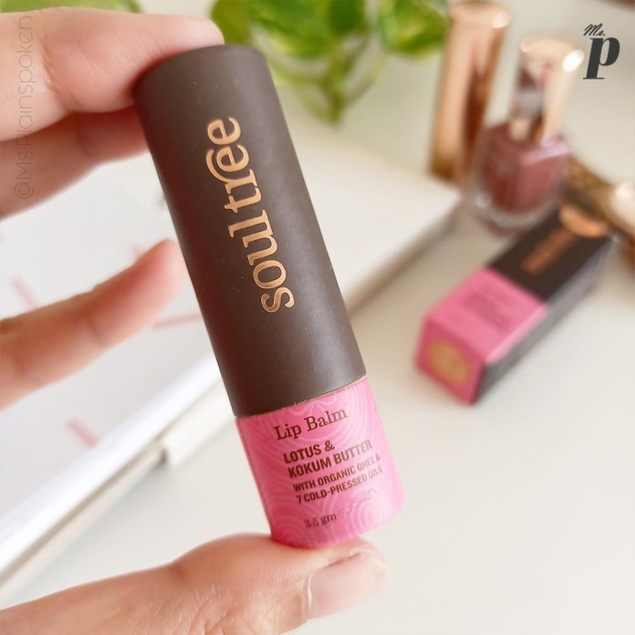 SoulTree Lotus and Kokum Butter Lip Balm Review Packaging Design