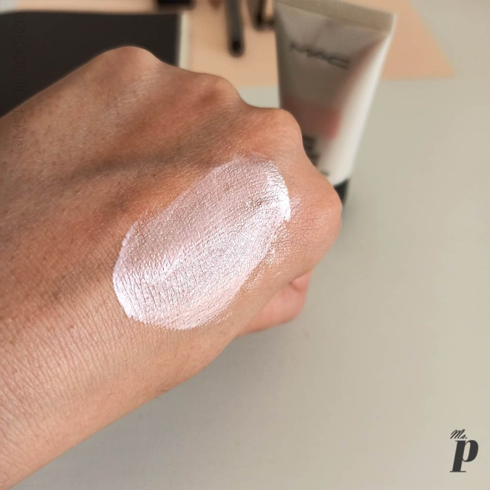 MAC Cosmetics Strobe Cream Review and Swatches on Indian Skin_ swatch pinklite (8)