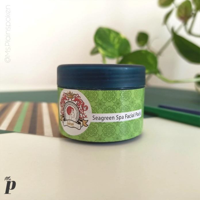 Indrani Cosmetics India_ Seagreen Spa Facial Pack Review (15)